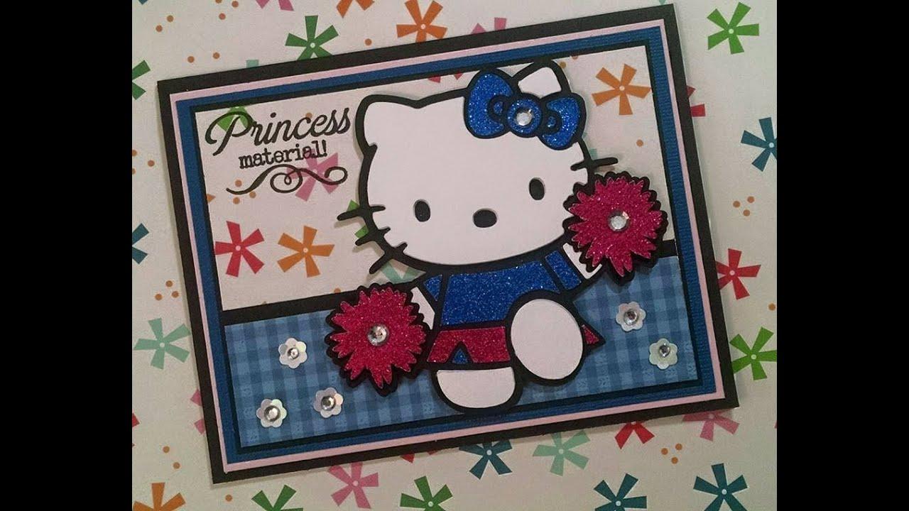 Cricut hello kitty princess cheerleader card youtube cricut hello kitty princess cheerleader card m4hsunfo