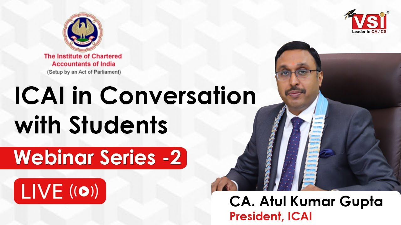 ICAI in Conversation with Students Live Webinar Series -2 | Ask Your Questions | CA Exam Nov 2020 |