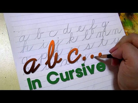 How to write a - z in cursive  (separately)