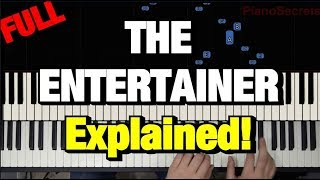 The Entertainer Piano Tutorial Scott Joplin (How to Play Lesson)