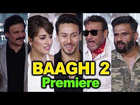 Baaghi 2 Premiere   Tiger Shroff,Disha Patani,Suniel Shetty,Vivek Oberoi,Jackie Shroff