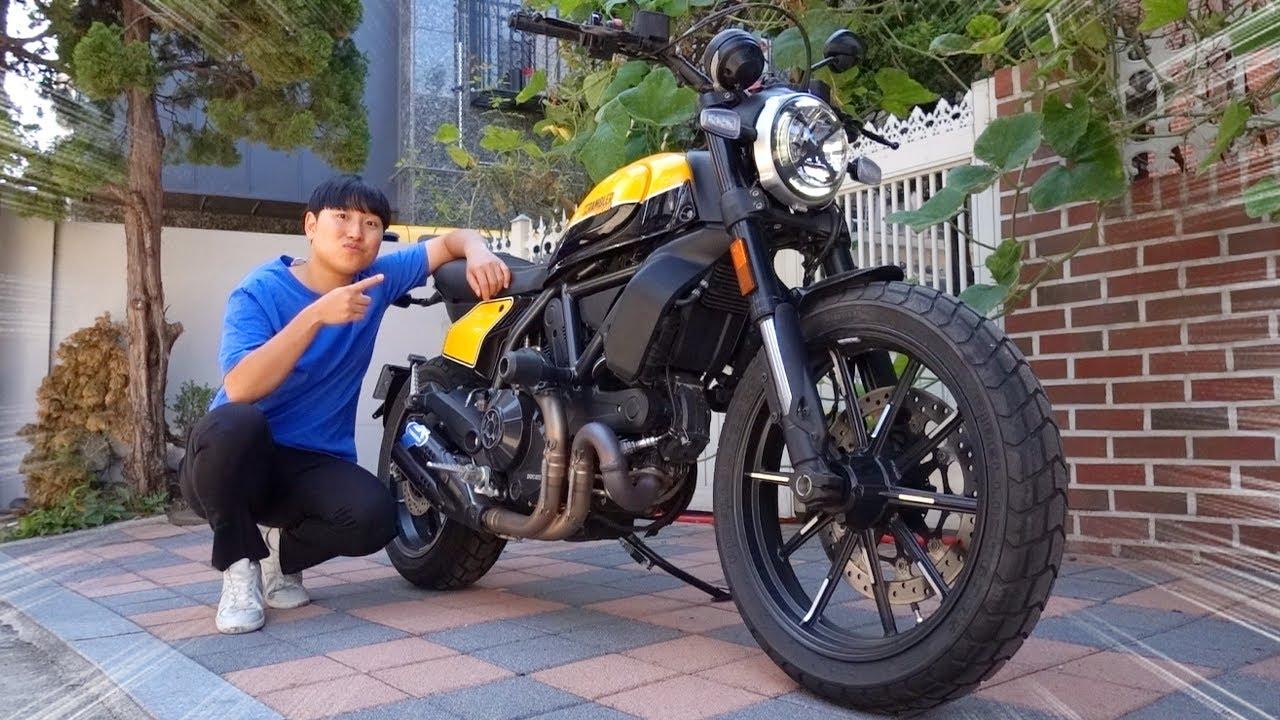 난생 처음 오토바이 사봤습니다 !