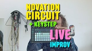 novation circuit keystep live improv cuckoo
