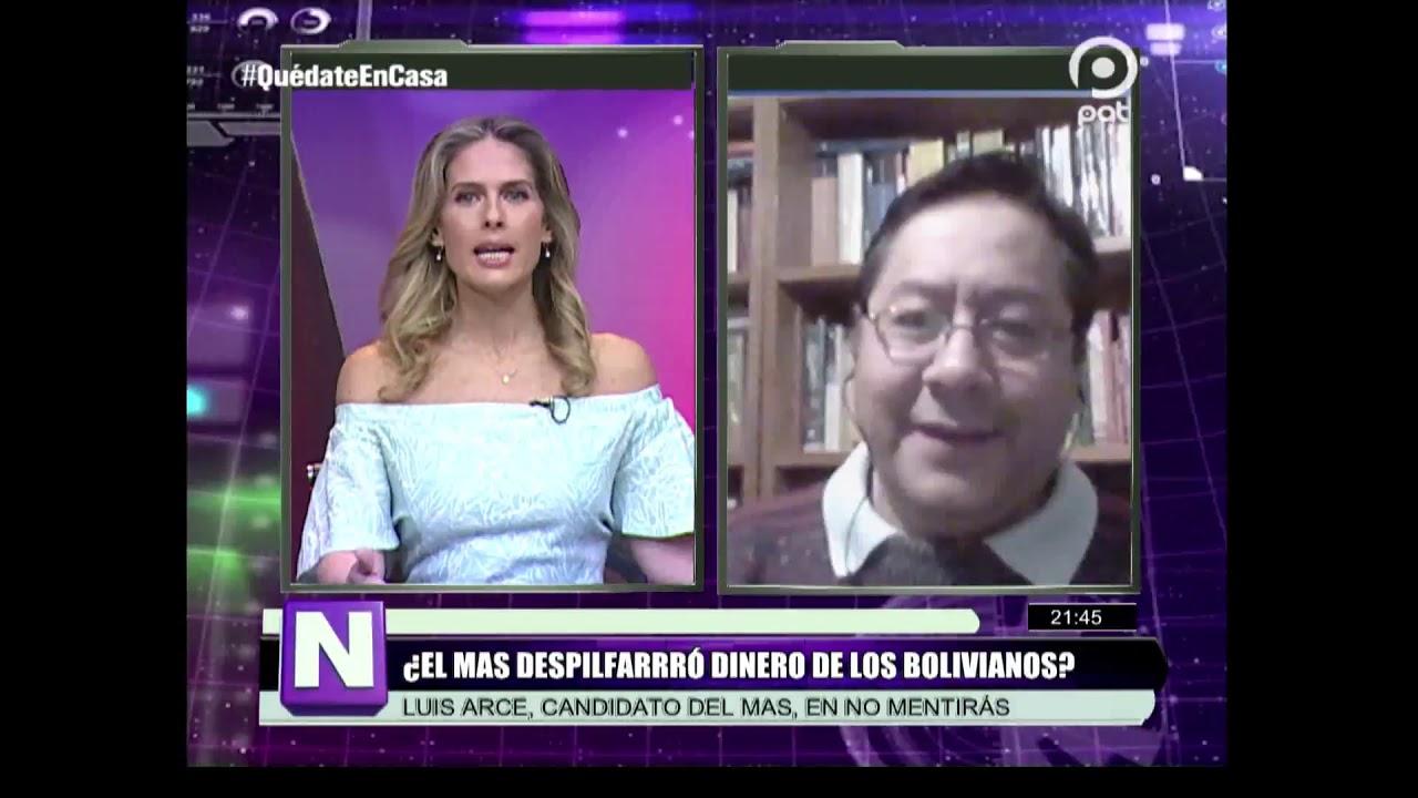 Respiradores y despilfarros de ayer y hoy. Luis Arce, candidato del MAS, en No Mentirás