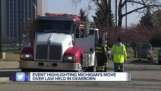 AAA, first responder organizations team up for 'Move Over Michigan' event
