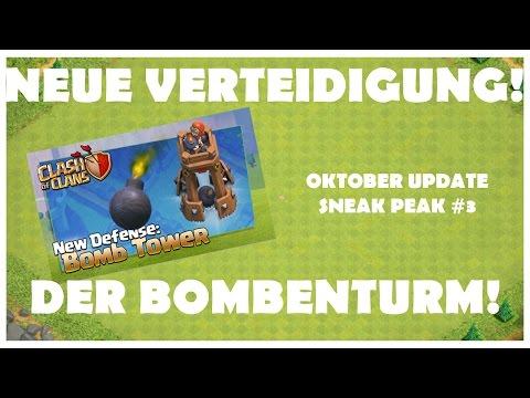 NEUE VERTEIDIGUNG - DER BOMBENTURM! / OKTOBER UPDATE SNEAK PEAK #3 [CLASH OF CLANS DEUTSCH/GERMAN]