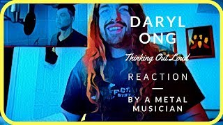 vocal coach reacts to daryl ong thinking out loud metal musician takes on rb and pop
