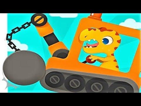 DINOSAUR DIGGER Play Kids MACHINES Cartoon Games