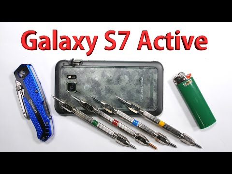 Galaxy S7 Active Scratch test, Bend test, Burn test - Durability video