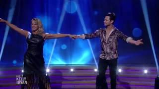 Tonya Harding and Sasha Farber Dance on Live