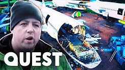Stripping Down An Airbus A320 In Record Time | Plane Reclaimers