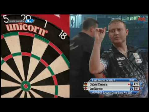 2017 European Darts Grand Prix Round 1 Clemens vs Murnan