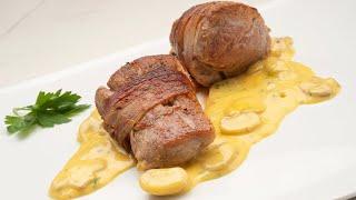 Solomillo de cerdo con salsa poulette - Cocina Abierta de Karlos Arguiñano