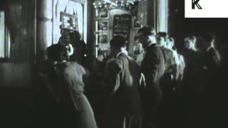 1920s, 1930s Cinema, People Queue to Buy Tickets, United States Archive Footage