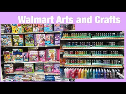 WALMART SHOP WITH ME /  AFFORDABLE ARTS AND CRAFTS SUPPLIES AT WALMART