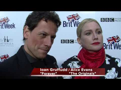 Ioan Gruffudd ABC's Forever  Alice Evans CW's Vampire Diaries  2015 Brit Week Launch