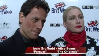 Ioan Gruffudd ABC's Forever   Alice Evans CW's Vampire Diaries   2015 Brit Week Launch