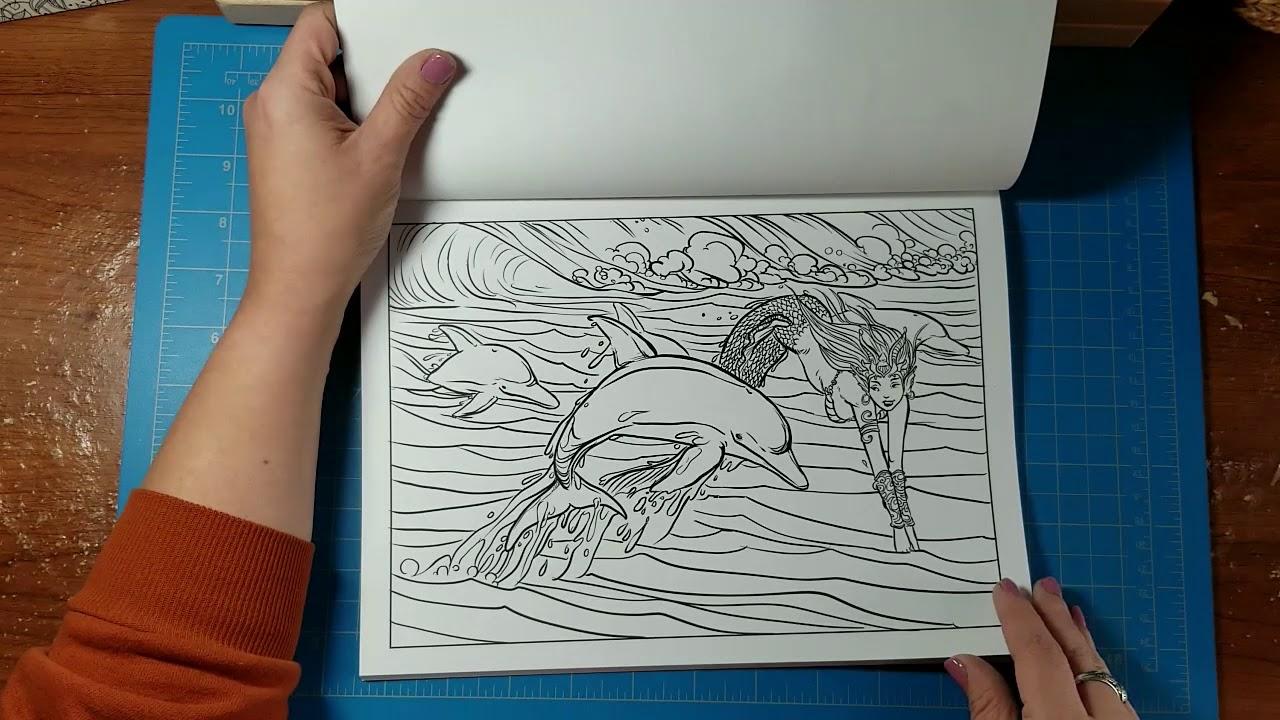 Ocean Fantasies Coloring Book