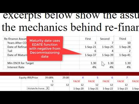 Project Finance Lecture Part 3   Refinancing and Credit Spreads