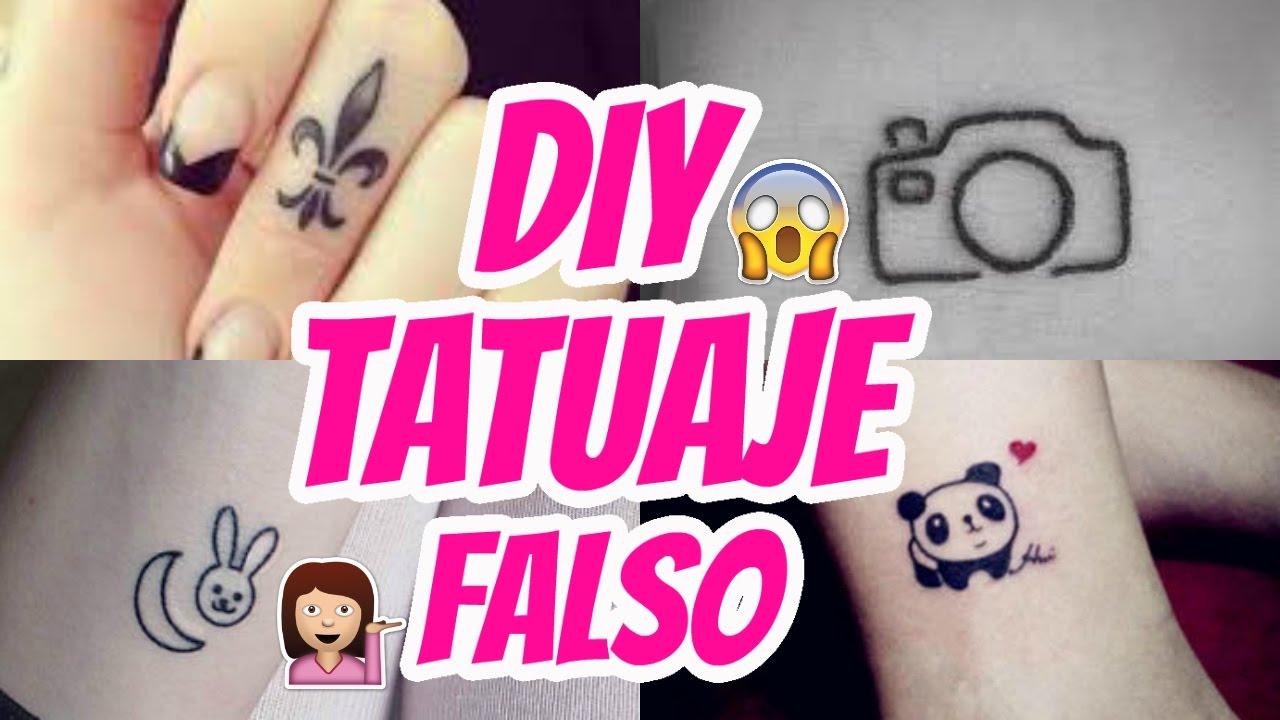 Como Hacer Tatuajes Falso En Casa Y Que Parezcan Real