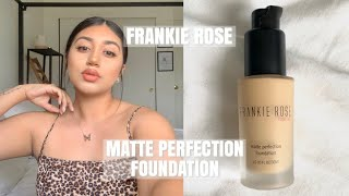 FRANKIE ROSE MATTE PERFECTION FOUNDATION REVIEW + DEMO ON OILY SKIN | MARYSSA SILVA