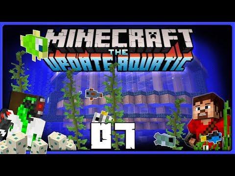 A Squid Called Gary! | Minecraft Update Aquatic BUILD CHALLENGE ||  Ren & Doc Build Stuff! #07
