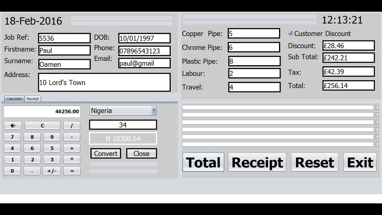 How to create Billing Systems with Array in Java NetBeans Full Tutorial