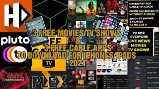 3 FREE MOVIES/TV SHOWS & 3 FREE CABLE APPS TO DOWNLOAD FOR IPHONES/IPADS 2021 screenshot 3