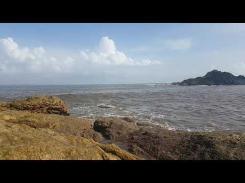 Mighty waves of Arabian sea at Om Beach  , Gokarna