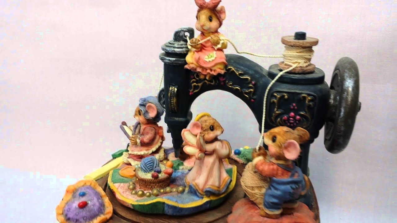 Mice Music Box Vintage Sewing Machine Mouse Animated Youtube