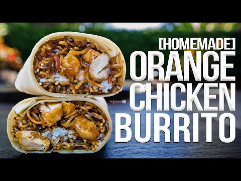 Homemade Orange Chicken Burrito (from Panda Express) | SAM THE COOKING GUY 4K