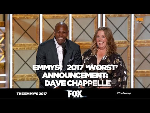 THE EMMY'S 2017 | Dave Chappelle improvisation announcement | FOX