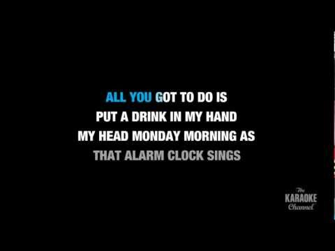 "Drink In My Hand in the Style of ""Eric Church"" karaoke video with lyrics (no lead vocal)"