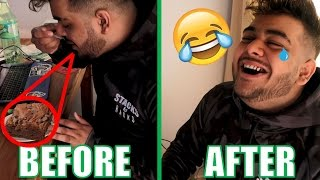 WEED EDIBLE BROWNIE PRANK ON BESTFRIEND!