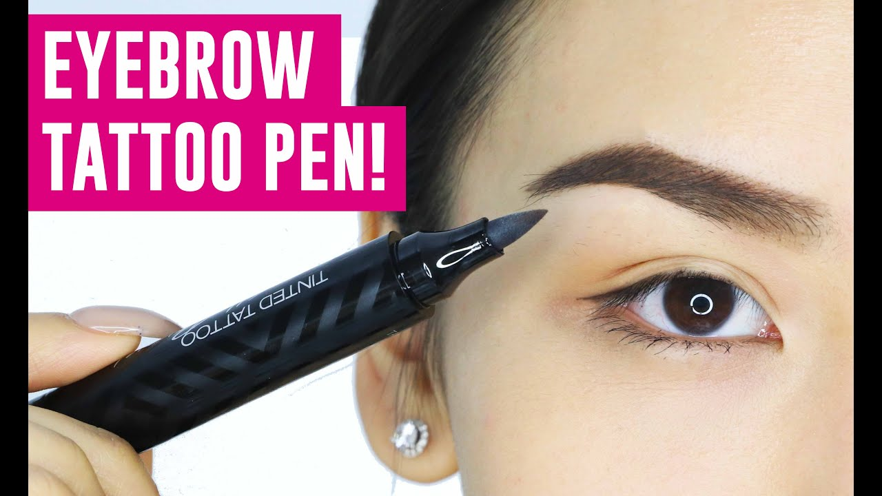 Eyebrow Tattoo Pen Omg Does It Work Tina Tries It Youtube