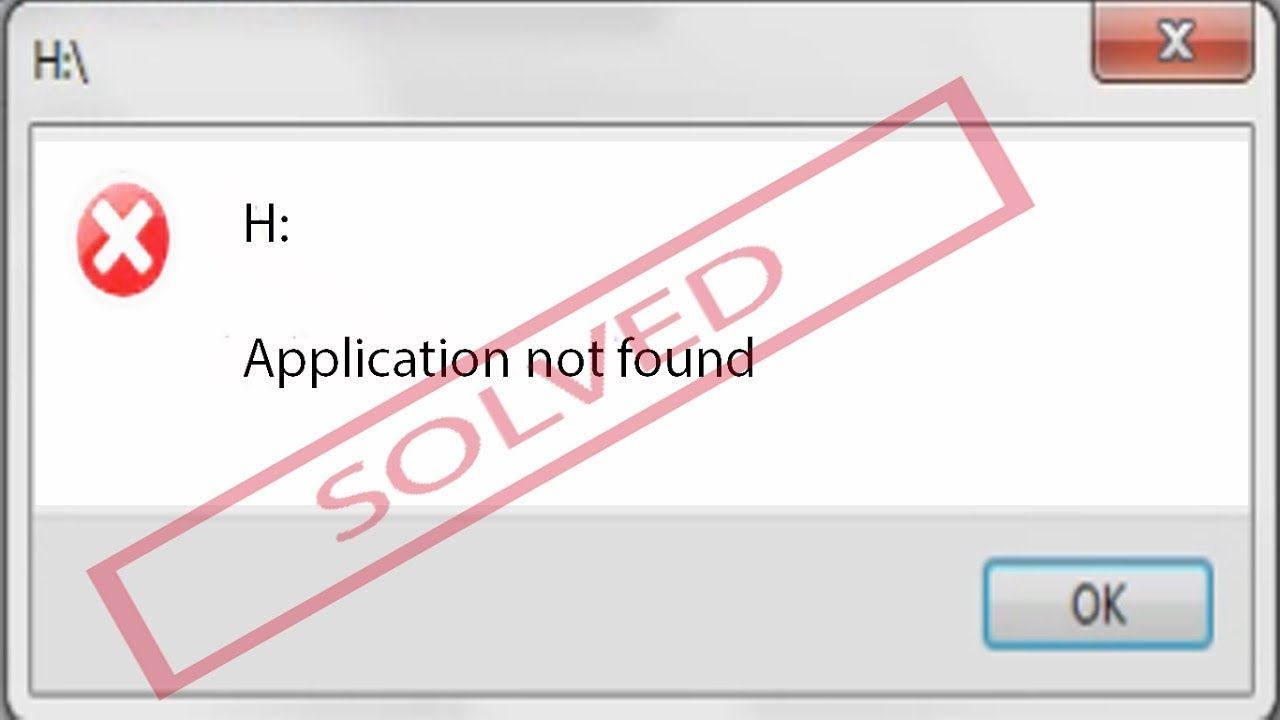 Cd Drive Error Application Not Found Fixed Youtube