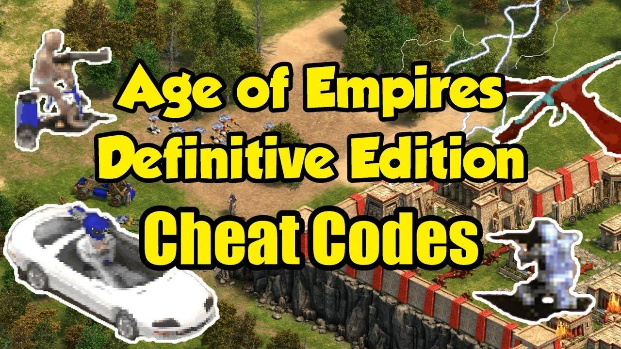 AoE Definitive Edition - Cheat Codes