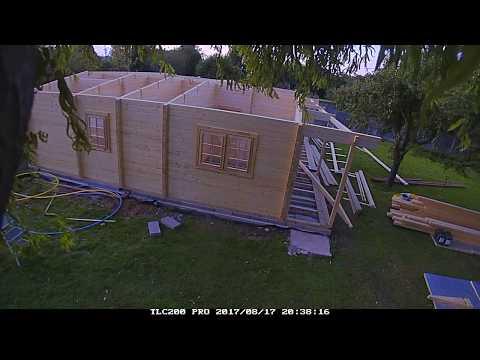 Quick Garden | Nantes Residential log cabin 13m x 9m installation timelapse PART 1 | Pineca Group