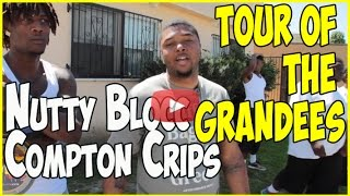 Nutty Blocc Compton Crip tour in the Grandees section with Bay Locc & Hacc 3