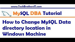 How to Change MySQL Data directory location in Windows - MySQL DBA Tutorial Beginner to Advance