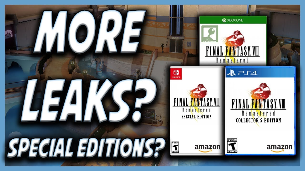 FF8 Remaster Retail Release Leaked by Amazon / Play Asia?
