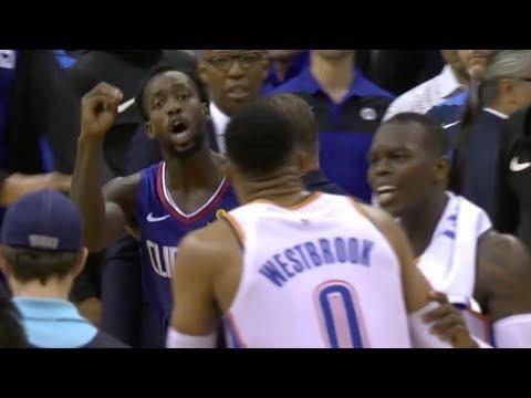Beverley Flagrant Goes at Westbrook's Knees Again! 2018-19 NBA Season