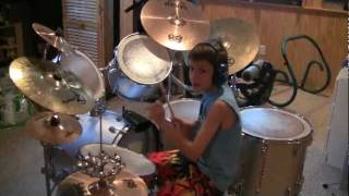 Van Halen - Hot For Teacher -  (Drum Cover) Zachary  age 10