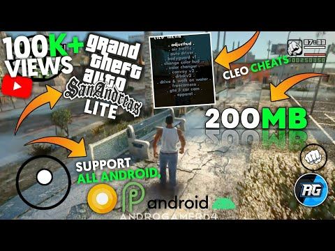 200mb Gta San Andreas 2.0 Lite Cleo Mod Apk+data For All Android Device 2020!
