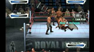 WWE Smack Down Vs Raw 2009 gameplay ps2