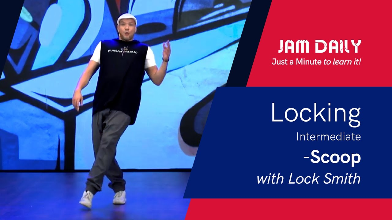 JAM Daily #183 | Just A Minute To Learn 'Locking Intermediate - Scoop' | Dance With Madhuri