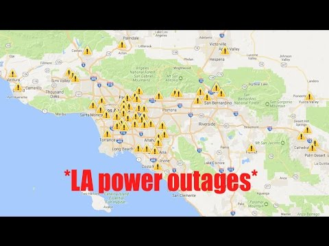 Widespread *Power Outages* ALL across Los Angeles! | 1000's