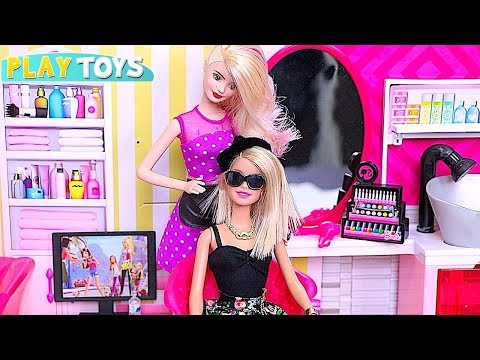 Play with Barbie Dolls and Hair Dye Fashion Styles! 🎀