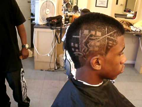 Haircut Mowhawk With Spider Web Design Youtube