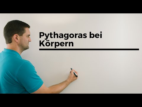 Pythagoras bei Körpern, Satz des Pythagoras | Mathe by Daniel Jung from YouTube · Duration:  5 minutes 45 seconds